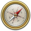 64x64px size png icon of Compass Gold