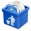64x64px size png icon of blue trash full