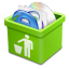 64x64px size png icon of green trash full