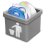 64x64px size png icon of grey trash full