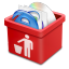 64x64px size png icon of red trash full