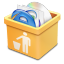 64x64px size png icon of yellow trash full