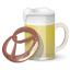 64x64px size png icon of Beer And Pretzel