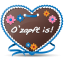 64x64px size png icon of Gingerbread Heart