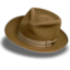 64x64px size png icon of Hat suede fedora