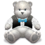 64x64px size png icon of Gift Light Grey bear