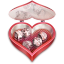 64x64px size png icon of Heart candies open