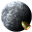 64x64px size png icon of Rocket Moon