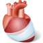 64x64px size png icon of Body Heart Injury