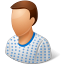 64x64px size png icon of People Patient Male