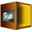 64x64px size png icon of Fichiers compresse zip