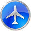 64x64px size png icon of Airport Blue