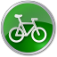 64x64px size png icon of Bicycle Green