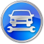 64x64px size png icon of Car Repair Blue