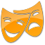 64x64px size png icon of Theater Yellow 2