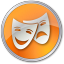 64x64px size png icon of Theater Yellow