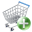 64x64px size png icon of shop cart add