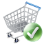 64x64px size png icon of shop cart apply