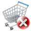 64x64px size png icon of shop cart exclude