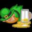 64x64px size png icon of leprechaun drunk