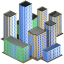 64x64px size png icon of City