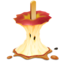 64x64px size png icon of Caramel Apple Eaten