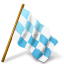 64x64px size png icon of Map Marker Chequered Flag Right Azure