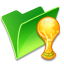 64x64px size png icon of Folder trophy
