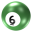 64x64px size png icon of Ball 6