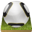 64x64px size png icon of Soccer ball grass