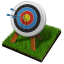 64x64px size png icon of archery