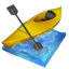 64x64px size png icon of kayak slalom