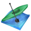 64x64px size png icon of kayak sprint