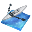 64x64px size png icon of rowing