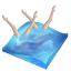 64x64px size png icon of swimming synchronized