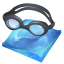 64x64px size png icon of swimming
