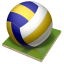 64x64px size png icon of volleyball