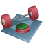 64x64px size png icon of weightlifting
