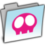 64x64px size png icon of BLUE AQUALESS SKULLY