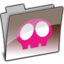 64x64px size png icon of CHOCO AQUA SKULL