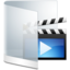64x64px size png icon of Folder White Videos