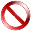 64x64px size png icon of Sign Delete
