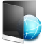 64x64px size png icon of folder black network