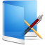 64x64px size png icon of folder blue apps