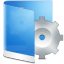 64x64px size png icon of folder blue system