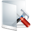 64x64px size png icon of folder white configure
