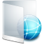 64x64px size png icon of folder white network