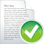 64x64px size png icon of blog post accept