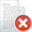 64x64px size png icon of blog post delete