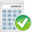 64x64px size png icon of calculator accept